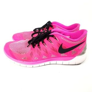 Nike Free 5.0 Running Shoes Womens Size 8.5 Pink